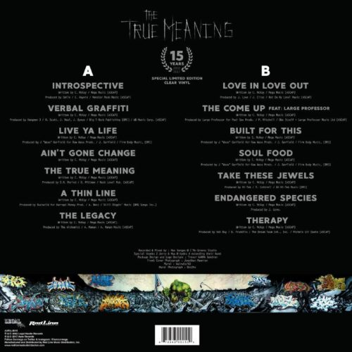 Cormega - The True Meaning [15th Anniversary Clear Vinyl]