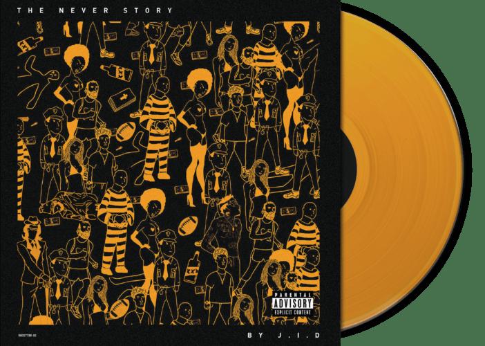 J I D The Never Story Yellow Vinyl The Best Rap Vinyls